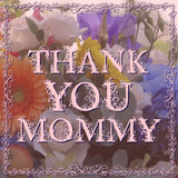 Happy Mothers Day lettering on blurry floral Stock Photos