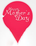 Happy Mothers Day lettering in broken balloon stock image