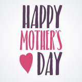 Happy Mothers Day Lettering Calligraphic Emblem . Vector Design Element For Greeting Card and Other Print Templates. Inscription f. Mothers Day Lettering Stock Photos