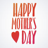 Happy Mothers Day Lettering Calligraphic Emblem . Vector Design Element For Greeting Card and Other Print Templates. Inscription f. Mothers Day Lettering Stock Images