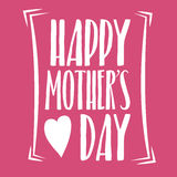 Happy Mothers Day Lettering Calligraphic Emblem . Vector Design Element For Greeting Card and Other Print Templates. Inscription f. Mothers Day Lettering Royalty Free Stock Photography