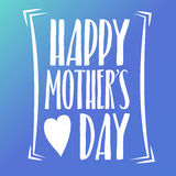 Happy Mothers Day Lettering Calligraphic Emblem . Vector Design Element For Greeting Card and Other Print Templates. Inscription f. Mothers Day Lettering Royalty Free Stock Photos