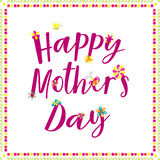 Happy Mothers Day lettering. Royalty Free Stock Photography