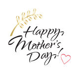 Happy Mothers day lettering Royalty Free Stock Photos