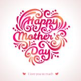 Happy Mothers Day lettering Greeting Card. Royalty Free Stock Image