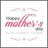 Happy Mothers Day lettering. Handmade calligraphy vector illustr. Ation. Mother\'s day card. For web design and application interface, also useful for vector illustration