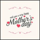 Happy Mothers Day lettering. Handmade calligraphy vector illustr. Ation. Mother's day card. For web design and application interface, also useful for stock illustration
