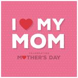 Happy Mothers Day lettering. Handmade calligraphy vector illustr. Ation. Mother\'s day card. For web design and application interface, also useful for Stock Image