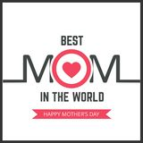 Happy Mothers Day lettering. Handmade calligraphy vector illustr. Ation. Mother\'s day card. For web design and application interface, also useful for Royalty Free Stock Image