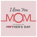 Happy Mothers Day lettering. Handmade calligraphy vector illustr. Ation. Mother\'s day card. For web design and application interface, also useful for Stock Images