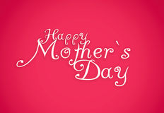 Happy Mothers Day lettering. Handmade calligraphy. Vintage style stock photo