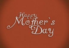 Happy Mothers Day lettering. Handmade calligraphy. Vintage style stock images