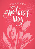 Happy Mothers Day lettering. Mothers day greeting card. Royalty Free Stock Image