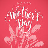 Happy Mothers Day lettering. Mothers day greeting card. Royalty Free Stock Photo