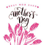 Happy Mothers Day lettering. Mothers day greeting card. Royalty Free Stock Images