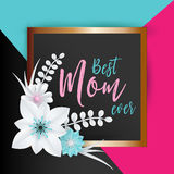 Happy Mothers Day Lettering Stock Image