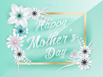 Happy Mothers Day Lettering Stock Photography