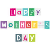 Happy mothers day. Stock Images