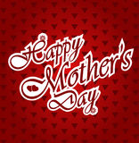 Happy Mothers day letters on white paper Stock Images