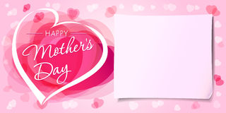 Happy Mothers day love banner Stock Image