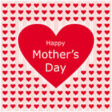 Happy mothers day love letter. Red heart background Royalty Free Stock Photo
