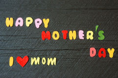 Happy mothers day, make gift for mom Royalty Free Stock Photos