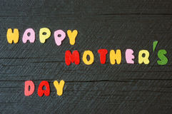 Happy mothers day, make gift for mom Stock Image