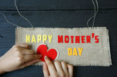 Happy mothers day, make gift for mom Stock Photo