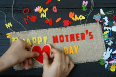 Happy mothers day, make gift for mom Royalty Free Stock Photography
