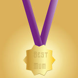 Happy Mothers Day medal Royalty Free Stock Photo