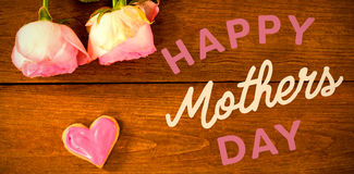 Happy mothers day message on table Royalty Free Stock Images