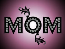 Happy mothers day,MOM stock illustration