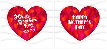 Happy Mothers Day Mom Heart Flowers Royalty Free Stock Photo