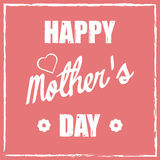 Happy mothers day. Mothers day card. Retro design with a heart and flowers. Editable vector illustration Royalty Free Illustration