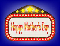 Happy Mothers Day  Movie Theatre Marquee Royalty Free Stock Photo