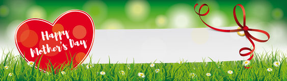 Happy Mothers Day Paper Banner Ribbon Header Royalty Free Stock Photography