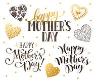 Happy Mothers day phrases Royalty Free Stock Images