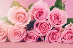 Happy Mothers Day Pink Roses background. Royalty Free Stock Photo