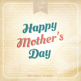 Happy Mothers Day polka dot style. EPS 10 Royalty Free Stock Image