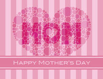 Happy Mothers Day Polka Dots Heart Stock Photo