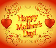 Happy mothers day poster Stock Photography