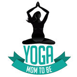 Happy Mothers Day pregnant yoga mom to be Stock Images