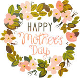 Happy Mothers Day. Present card Stock Image