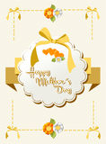 Happy Mothers Day ribbon background Stock Images
