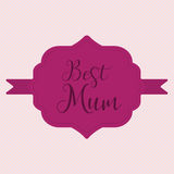 Happy Mothers Day ribbon badge Stock Image