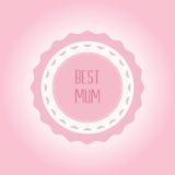 Happy Mothers Day ribbon badge Stock Photos