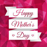 Happy Mothers Day ribbon. Vintage decorative background. Stock Images