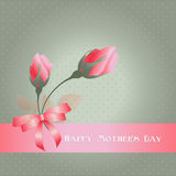 Happy Mothers Day. with roses Royalty Free Stock Photography