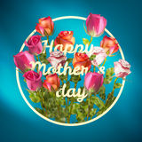 Happy Mothers Day roses design EPS 10 Royalty Free Stock Photos