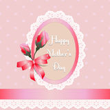 Happy Mothers Day.roses with polka dot background Stock Photos